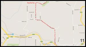 Walking Track Map - Sassafras to Emerald