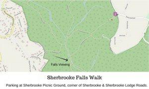 Sherbrooke Falls Walking Map