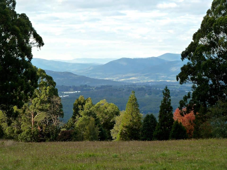Image of views from Olinda Golf Course Dog Park