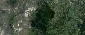 Aerial view of the Dandenong Ranges, Victoria, Australia