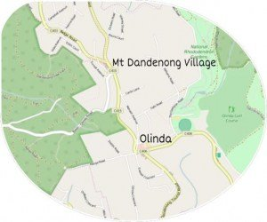 Villages of Mt Dandenong Map