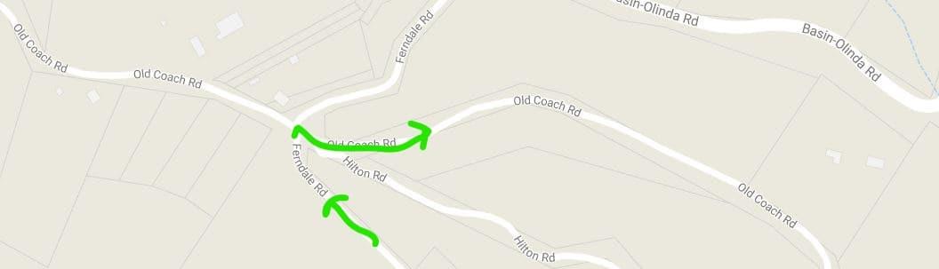 Ferndale Road-Old Coach Junction