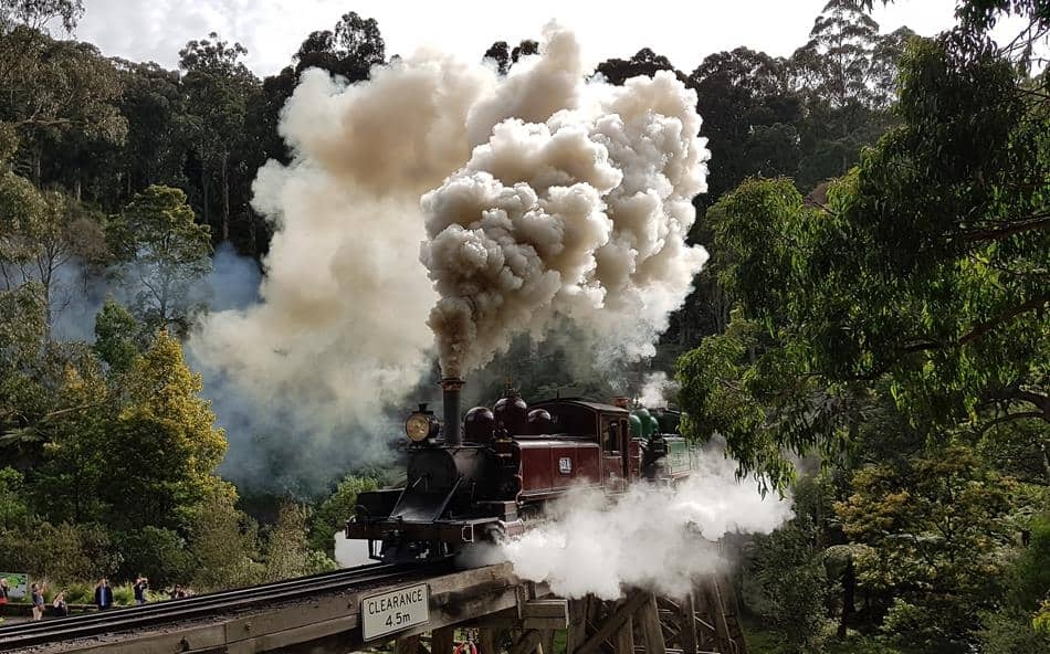 Puffing Billy Steam Train Melbourne Australia