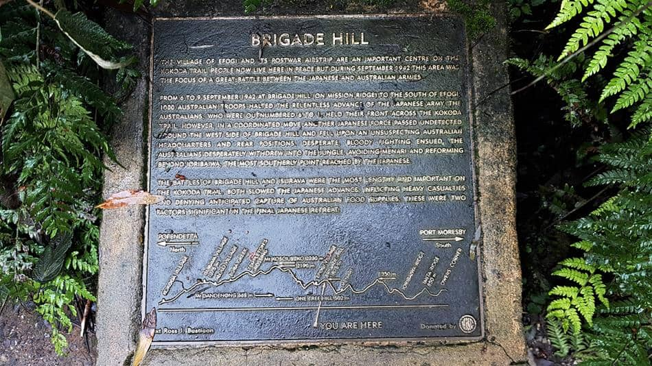 Brigade Hill Plaque, 1000 Steps Walk, Dandenong Ranges National Park