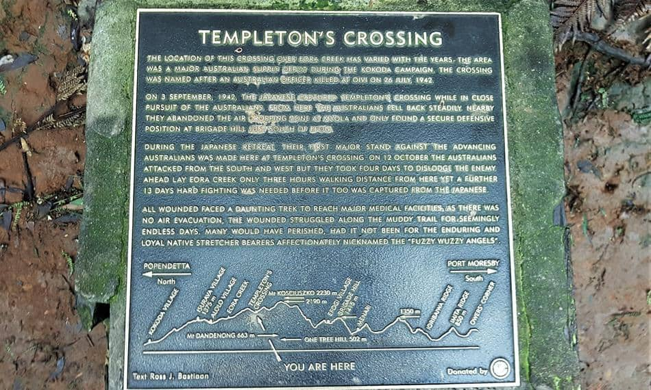 Templeton's Crossing Plaque on the One Thousand Steps, Dandenong Ranges