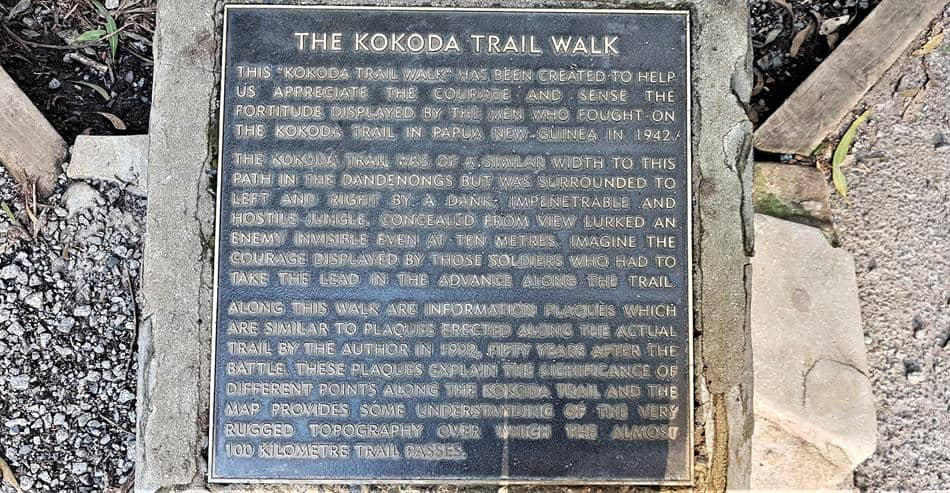 Kokada Memorail Trail Description