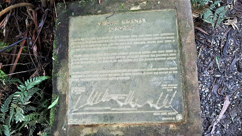Owers Corner Plaque