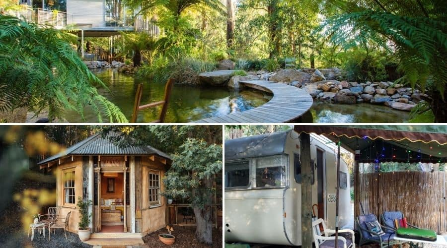 Unusual, romantic, unique accommodation in the Dandenong Ranges, Australia